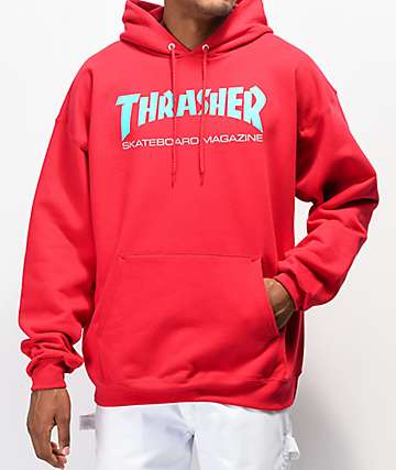 free shipping d7d3d 68b38 Thrasher Skate Mag Radical Red Pullover Hoodie