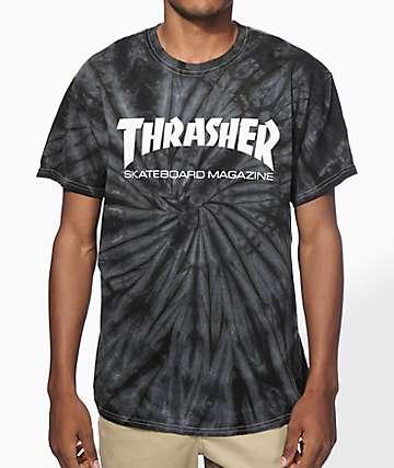 0b7c2289a Thrasher Skate Mag camiseta teñida araña