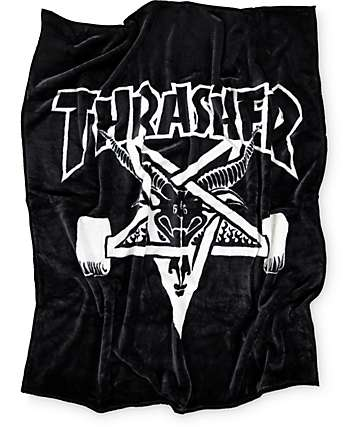 Thrasher Skategoat Black & White Blanket