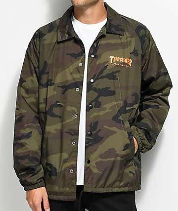 Thrasher Skategoat Camo Coaches Jacket