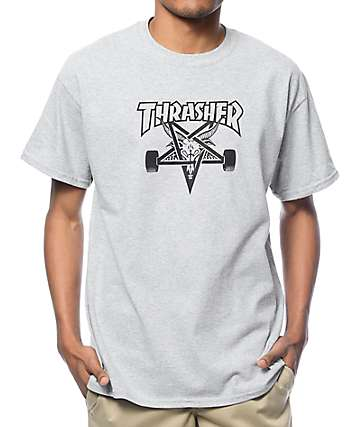 Thrasher Skategoat Heather Grey T-Shirt