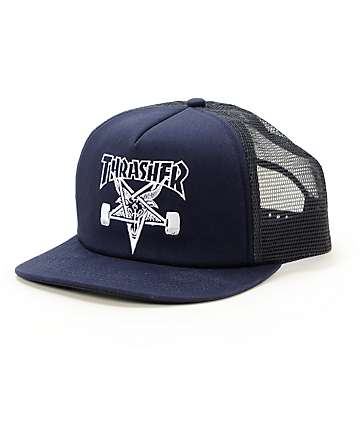 Thrasher Skategoat Navy Trucker Hat