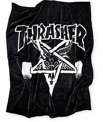 Thrasher Skategoat manta en blanco y negro