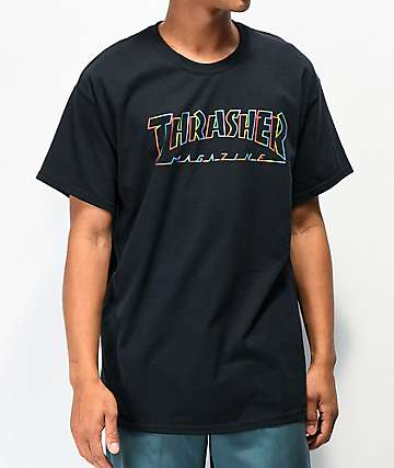 Thrasher Spectrum Black T-Shirt