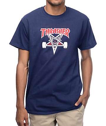 Thrasher Two Tone Skategoat camiseta en azul marino