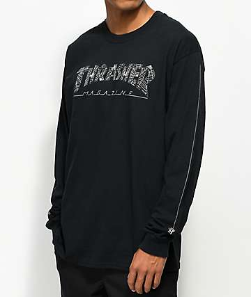 Thrasher Web camiseta negra de manga larga