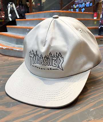 Thrasher Witch Tan Snapback Hat
