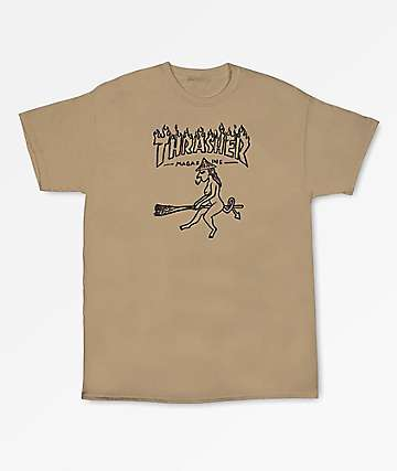 Thrasher Witch Tan T-Shirt