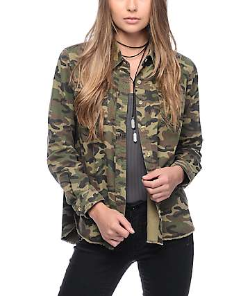 Thread & Supply Camo Button Up Shirt