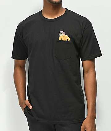 Thrilla Krew Beach Bum camiseta negra con bolsillo