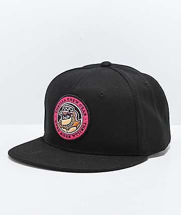 Thrilla Krew Dot Logo Black Snapback Hat