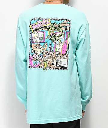 Thrilla Krew Hardcore Aqua Blue Long Sleeve T-Shirt