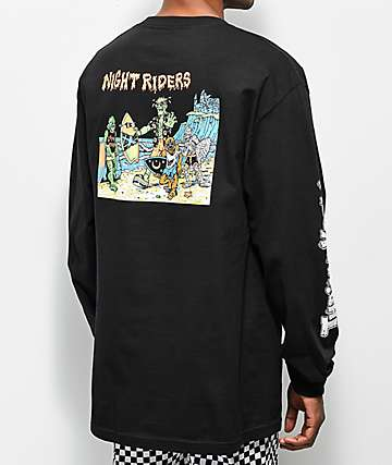 Thrilla Krew Nightrider Black Long Sleeve T-Shirt