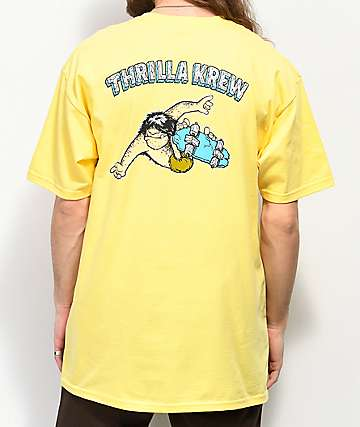 Thrilla Krew Primal Pete Checkered Yellow T-Shirt