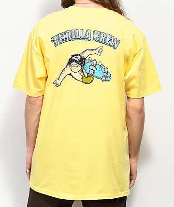 Thrilla Krew Primal Pete Checkered Yellow T-Shirt