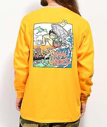 Thrilla Krew Primal Urges camiseta dorada de manga larga