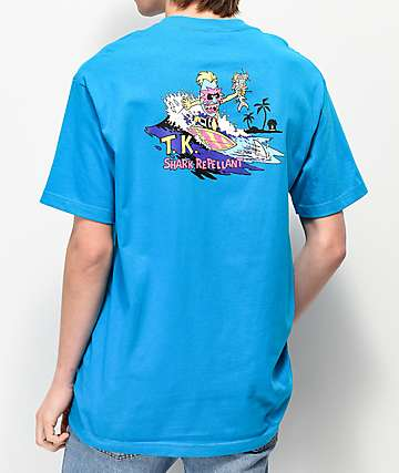 Thrilla Krew Shark Repellant camiseta azul