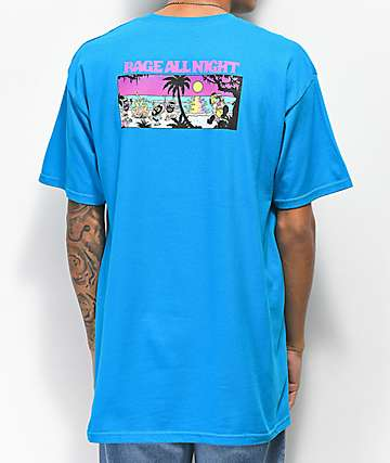 Thrilla Krew Surf All Day Turquoise T-Shirt