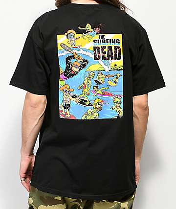 Thrilla Krew Surfing Dead Black T-Shirt