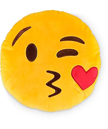 Throwboy Kissy Emoji Pillow