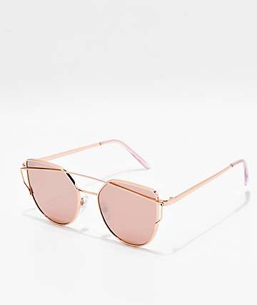 Tight Rope Rose Gold Smoke Mirror Sunglasses