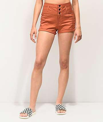 Tinseltown Argon High Waist Shorts