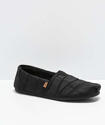 Toms Alpargata Slip-On zapatos negros para hombres