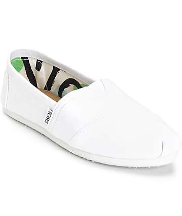 Toms Classic Optic White Womens Shoes