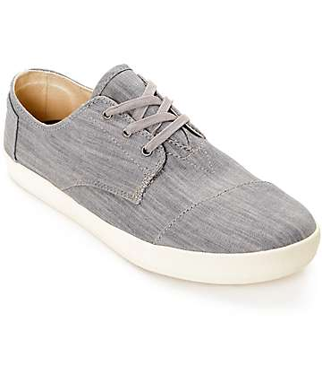 Toms Paseo Grey Denim Shoes