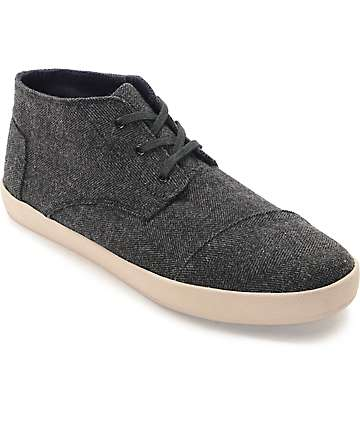 Toms Paseo Mid Grey Herringbone Shoes