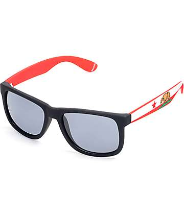 Townie CA State Flag Black Sunglasses