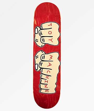 """Toy Machine Fists 8.0"""" tabla de skate roja"""