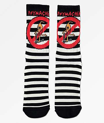 Toy Machine No Scooter Black & White Crew Socks
