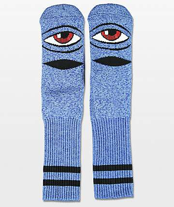Toy Machine Sect Eye Heather Blue Crew Socks