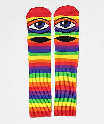 Toy Machine Sect Eye Rainbow Crew Socks