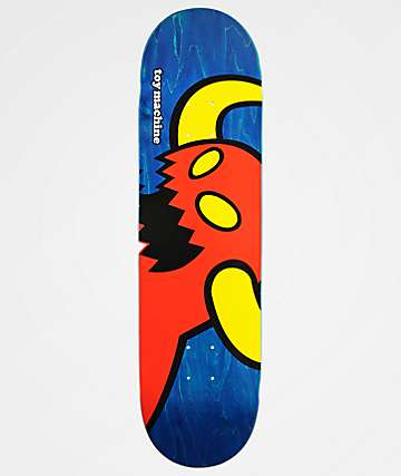 "Toy Machine Vice Monster Blue 8.37"" Skateboard Deck"