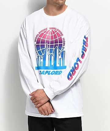 Trap Lord City Logo camiseta blanca de manga larga
