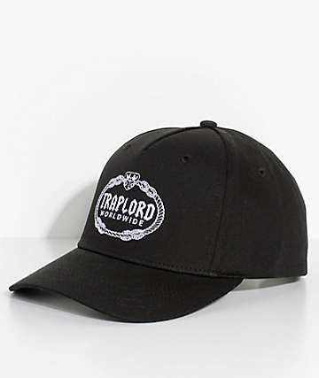 Trap Lord Crest Black Snapback Hat