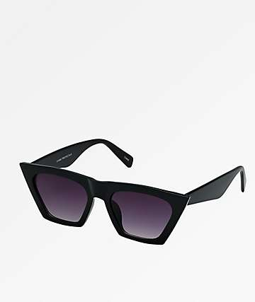 Trapezoid Black Sunglasses