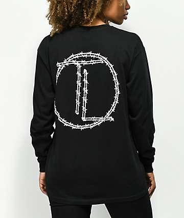 Traplord Barbed camiseta negra de manga larga