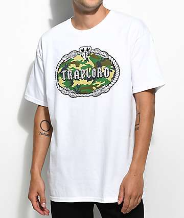 Traplord Camo Fill Crest White T-Shirt