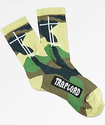 Traplord Camo Green Crew Socks