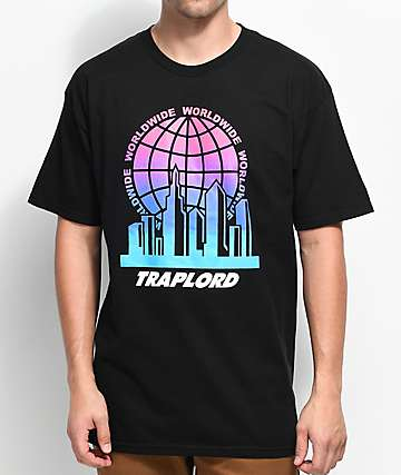 Traplord City Logo Black T-Shirt
