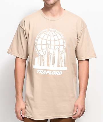 Traplord City Logo Khaki T-Shirt