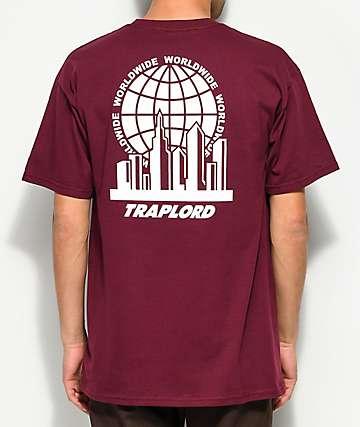 Traplord City Logo camiseta granate