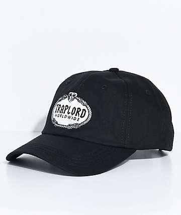 Traplord Crest Black Strapback Hat