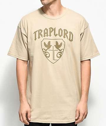 Traplord Crest Tonal Khaki T-Shirt