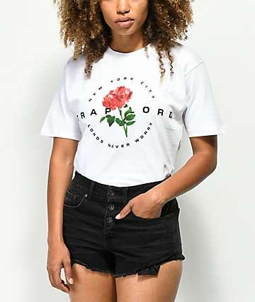 Traplord Rose camiseta blanca