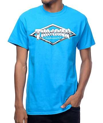 Trasher Diamond Emblem Sapphire T-Shirt