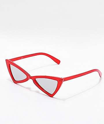 Triangle Frame Red Sunglasses